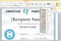 Word 2013 Certificate Template 5