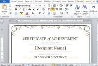 Word 2013 Certificate Template 7