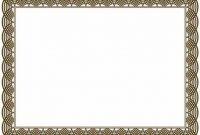 Borderless Certificate Templates 12