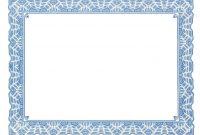 Borderless Certificate Templates 2