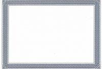 Borderless Certificate Templates 5