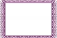 Borderless Certificate Templates 7