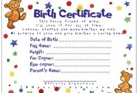 Build A Bear Birth Certificate Template 10