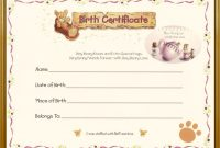 Build A Bear Birth Certificate Template 12