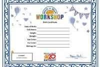 Build A Bear Birth Certificate Template 3