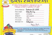 Build A Bear Birth Certificate Template 4