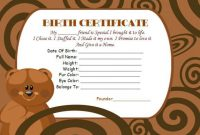 Build A Bear Birth Certificate Template 6