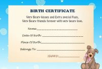 Build A Bear Birth Certificate Template 8