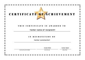 Certificate Of Accomplishment Template Free 3