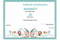 Certificate Of Accomplishment Template Free 6