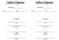 Certificate Of Appearance Template 10