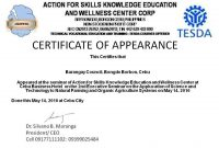 Certificate Of Appearance Template 3