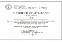 Certificate Of Appearance Template 9