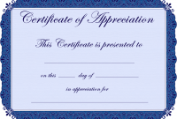 Certificate Of Appreciation Template Free Printable 4