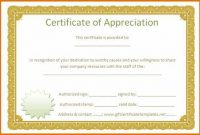 Certificate Of Appreciation Template Free Printable 5