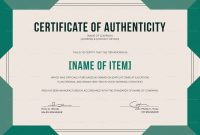 Certificate Of Authenticity Template 10