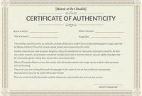 Certificate Of Authenticity Template 3