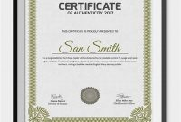 Certificate Of Authenticity Template 4