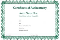 Certificate Of Authenticity Template 5
