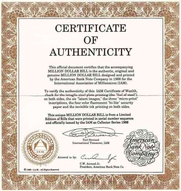 Certificate Of Authenticity Template 6