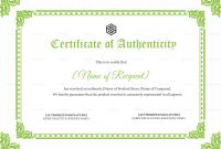 Certificate Of Authenticity Template 7