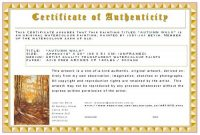 Certificate Of Authenticity Template 8