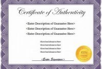 Certificate Of Authenticity Template 9