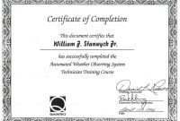 Certificate Of Completion Free Template Word 10