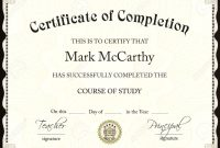 Certificate Of Completion Free Template Word 7