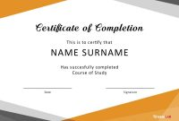 Certificate Of Completion Free Template Word 9