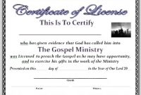 Certificate Of License Template 5