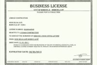 Certificate Of License Template 8