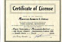 Certificate Of License Templatev 3