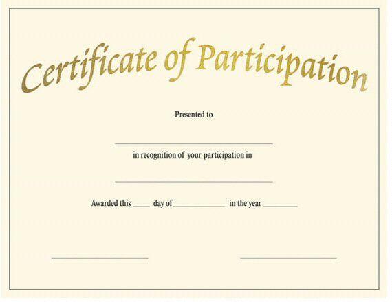 Certificate Of Participation Template Pdf 5