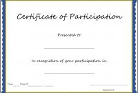 Certificate Of Participation Template Pdf 6