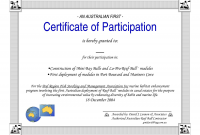 Certificate Of Participation Word Template 6
