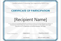 Certificate Of Participation Word Template 7