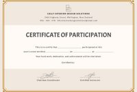 Certificate Of Participation Word Template 9