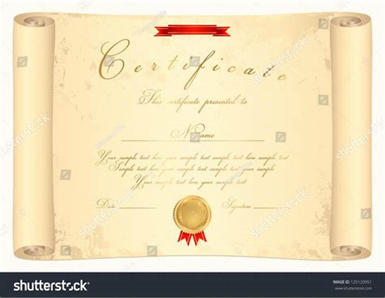 Certificate Scroll Template 2