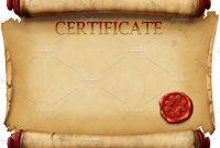 Certificate Scroll Template 8