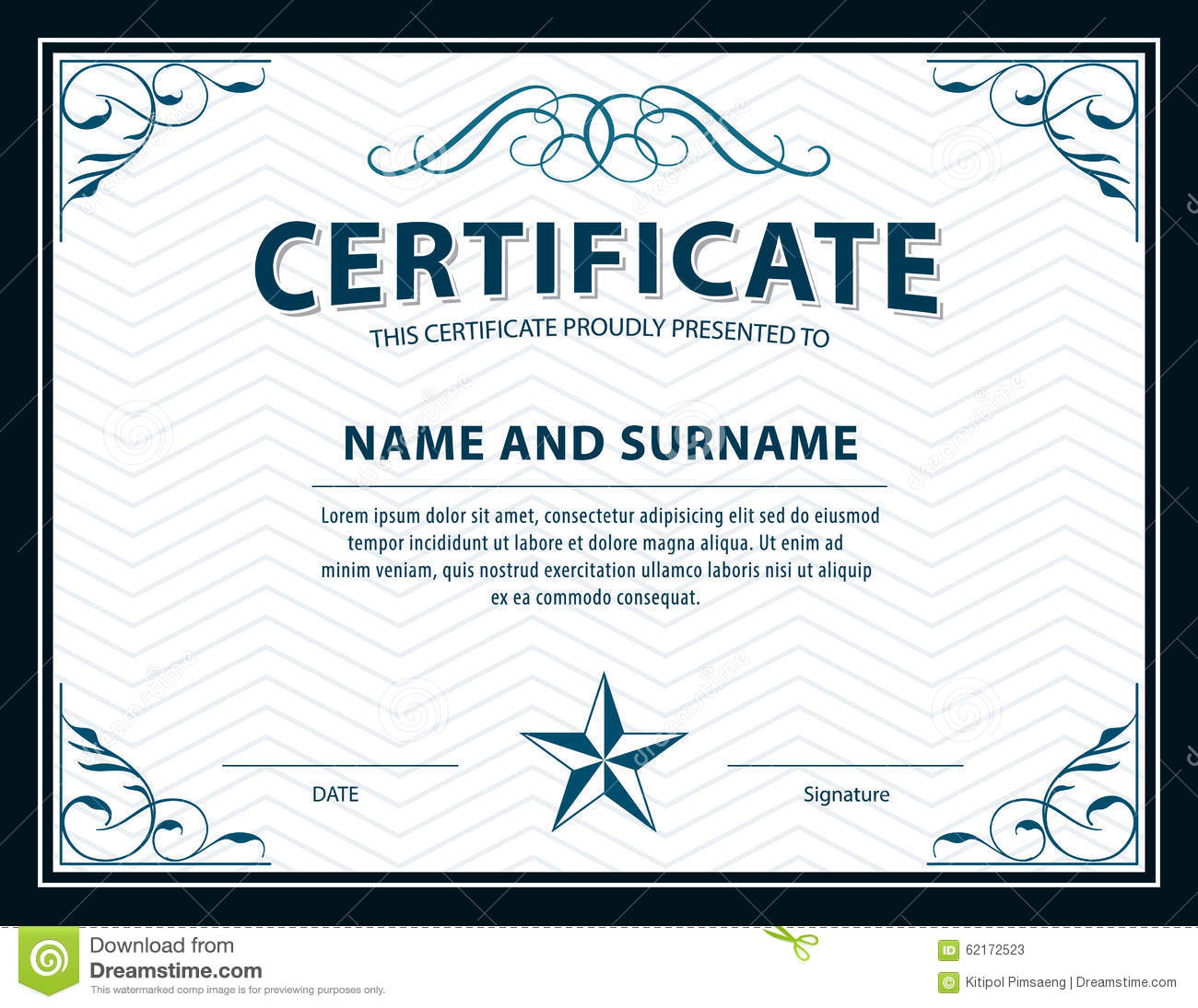 Certificate Template Size 11