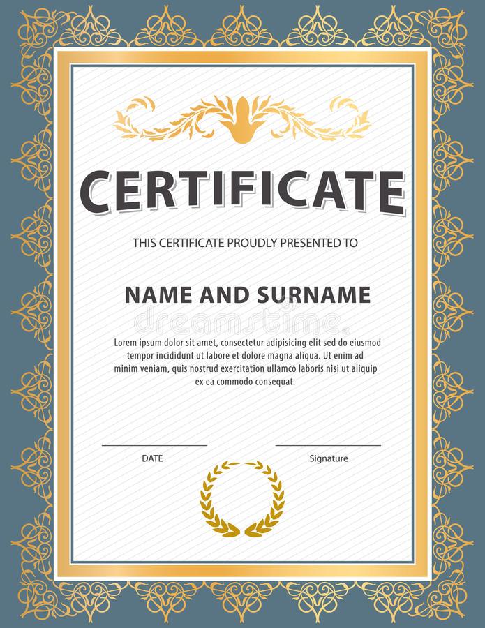Certificate Template Size 12