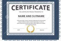Certificate Template Size 4