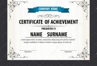 Certificate Template Size 5