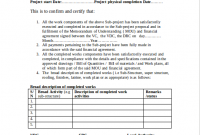 Certificate Template for Project Completion 4