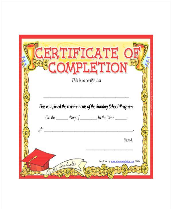 Certificate Templates For School