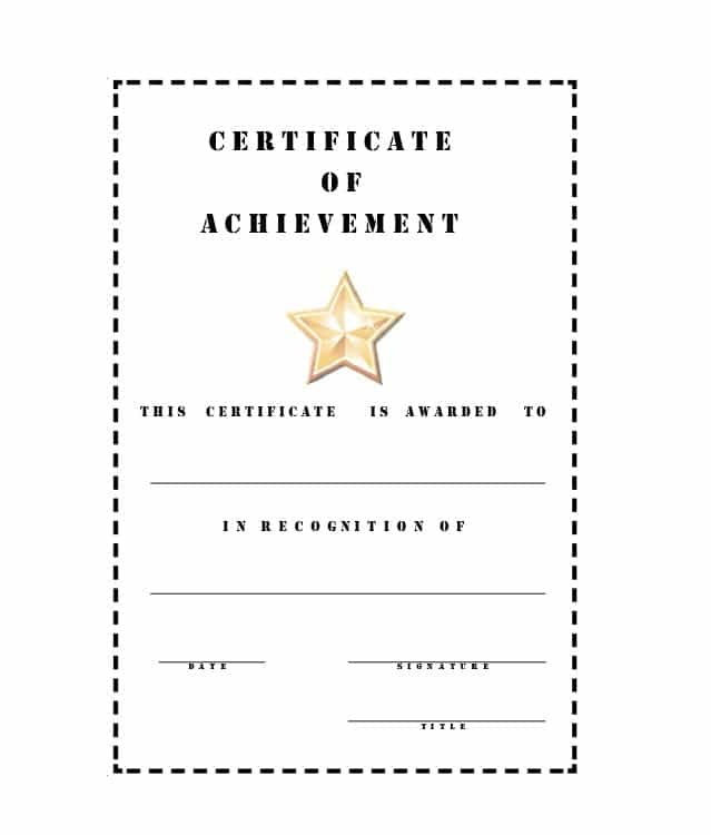 Certificate Of Achievement Template 26