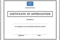 Certificates Of Appreciation Template 2