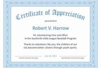 Certificates Of Appreciation Template 4