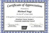 Certificates Of Appreciation Template 7